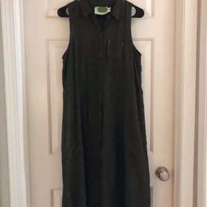 Sleeveless Green Anthropologie Dress